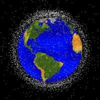 20090213Debris.jpg 宇宙ゴミ(スペースデブリ)のイメージ