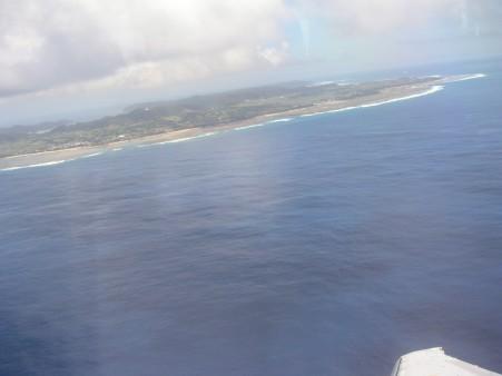奄美大島上空